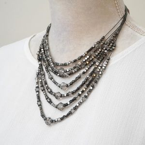 Chico's Multi Strand Beaded Necklace NWT